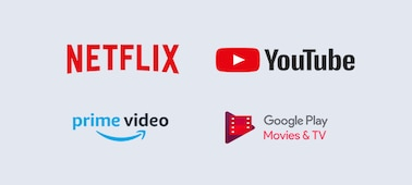 Logá Netflix, YouTube, prime video a Google Play