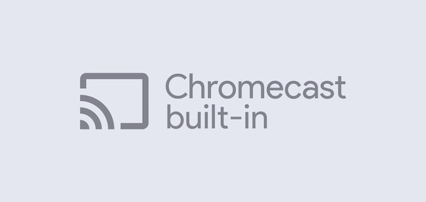 Logo Chromecast built-in