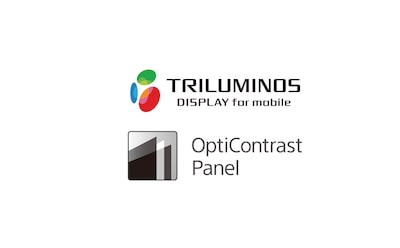 Displej TRILUMINOS a logo panela OptiContrast