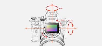 Vstavaná stabilizácia obrazu v5osiach svýhodou vysokej rýchlosti uzávierky až 5,5kroku