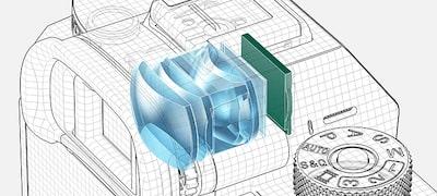 Hľadáčik Quad-VGA OLED Tru-Finder s3,69 milióna bodov avysokou svietivosťou