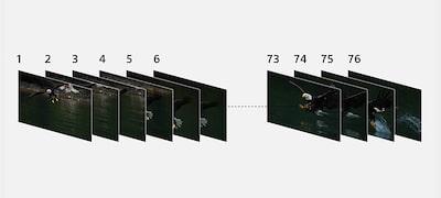 Až 76 snímok počas sériového snímania