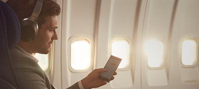 Potlačenie okolitého hluku vhodné počas letov