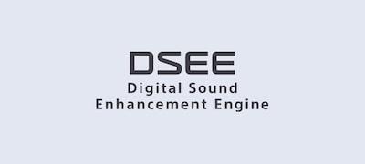 Technológia DSEE obnovuje detaily digitálnej hudby